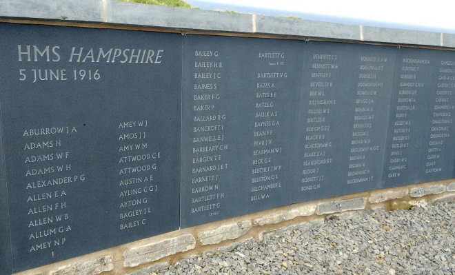 hms hampshire wall